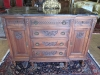 English Mahogany Cabinet with Black Marble Top