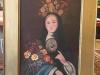Antique Spanish Madonna Oil