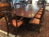 Antique Table with Fiddleback Chairs