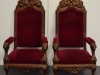 Pair of English Throne Chairs