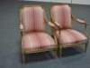 Pair of Circa 1800 French Arm Chairs with Pink Fabric