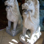Hand Carved Sand-Stone Lions