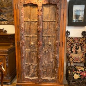 Antique English Victorian Corner Cabinet Walnut With Inalid Woods